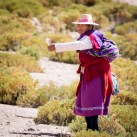 Traditionally dressed woman in Chile