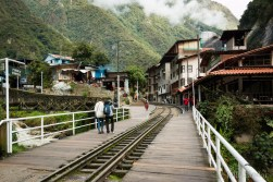 The only way to reach Aguas Calientes is by train (or on foot....)
