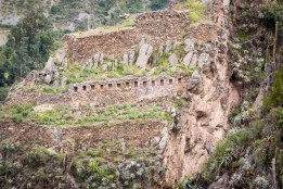The fortress was built on extremely steep terraine