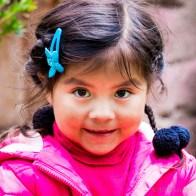 All little girls in Peru wear pink.