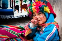 Colorful traditional wear of the Quechuas