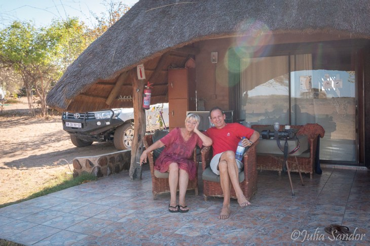 Mom arrived to Botswana - the first night we spend in this amazing challet in Senyati