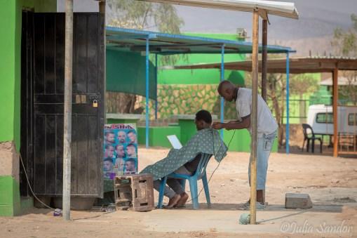 Open air workplace in Opuwo