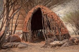 A hut under construction