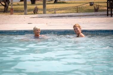 Heat break in Etosha: enjoying the pool at one of the campsites