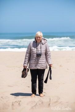 Eva after the beach walk
