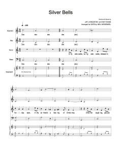 Silver Bells for SATB Choir