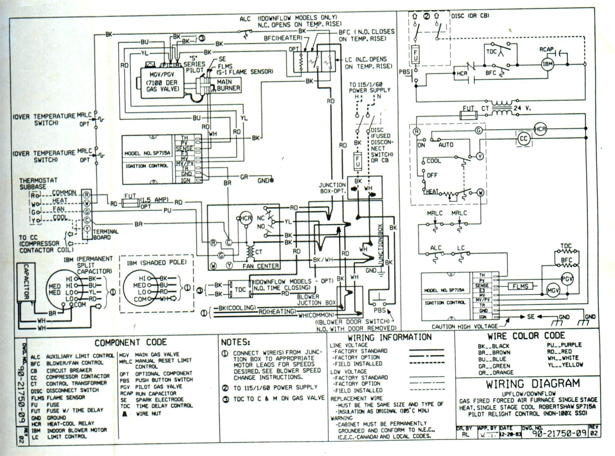 Old Furnace Wiring Ac | Wiring Diagram on