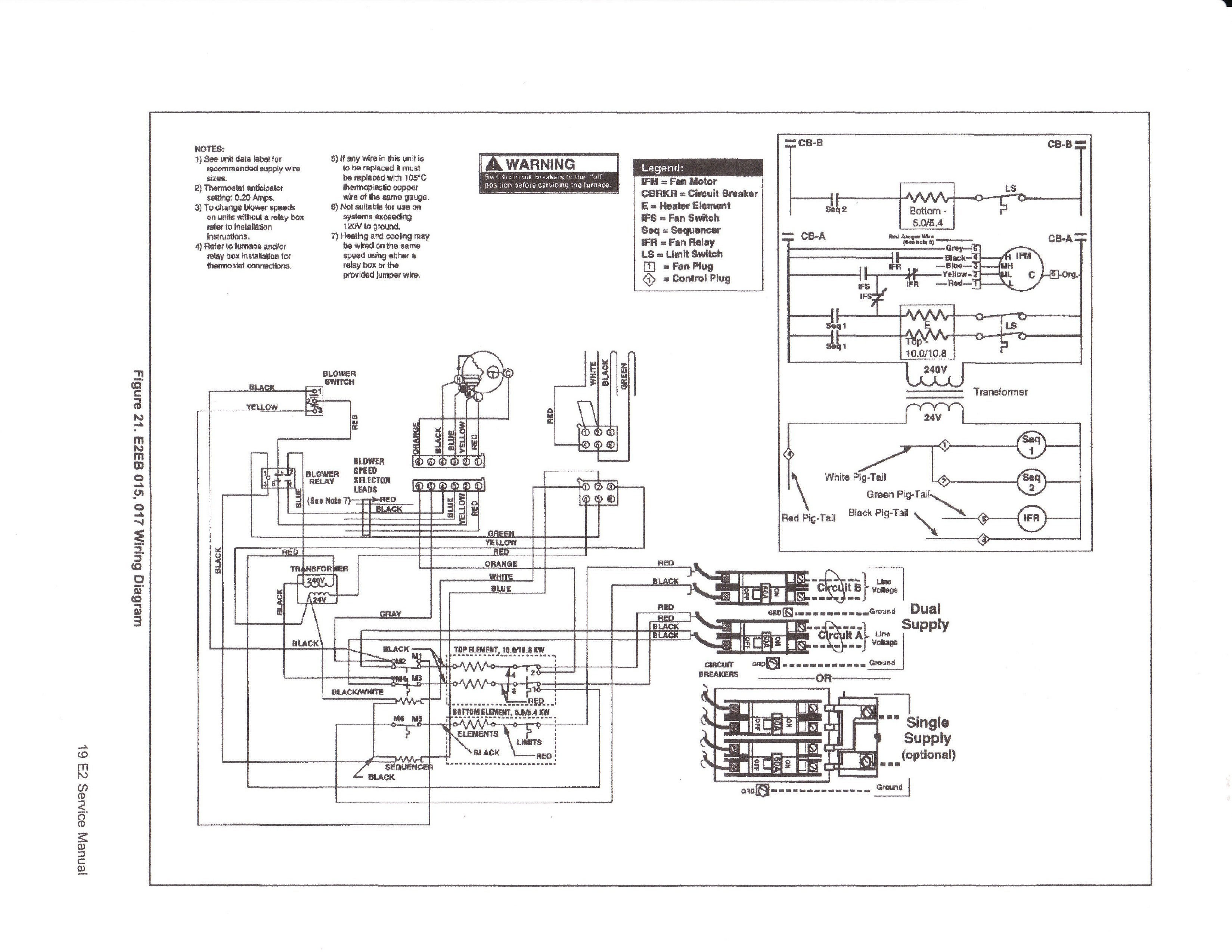 Intertherm Furnace Thermostat Wiring Diagram