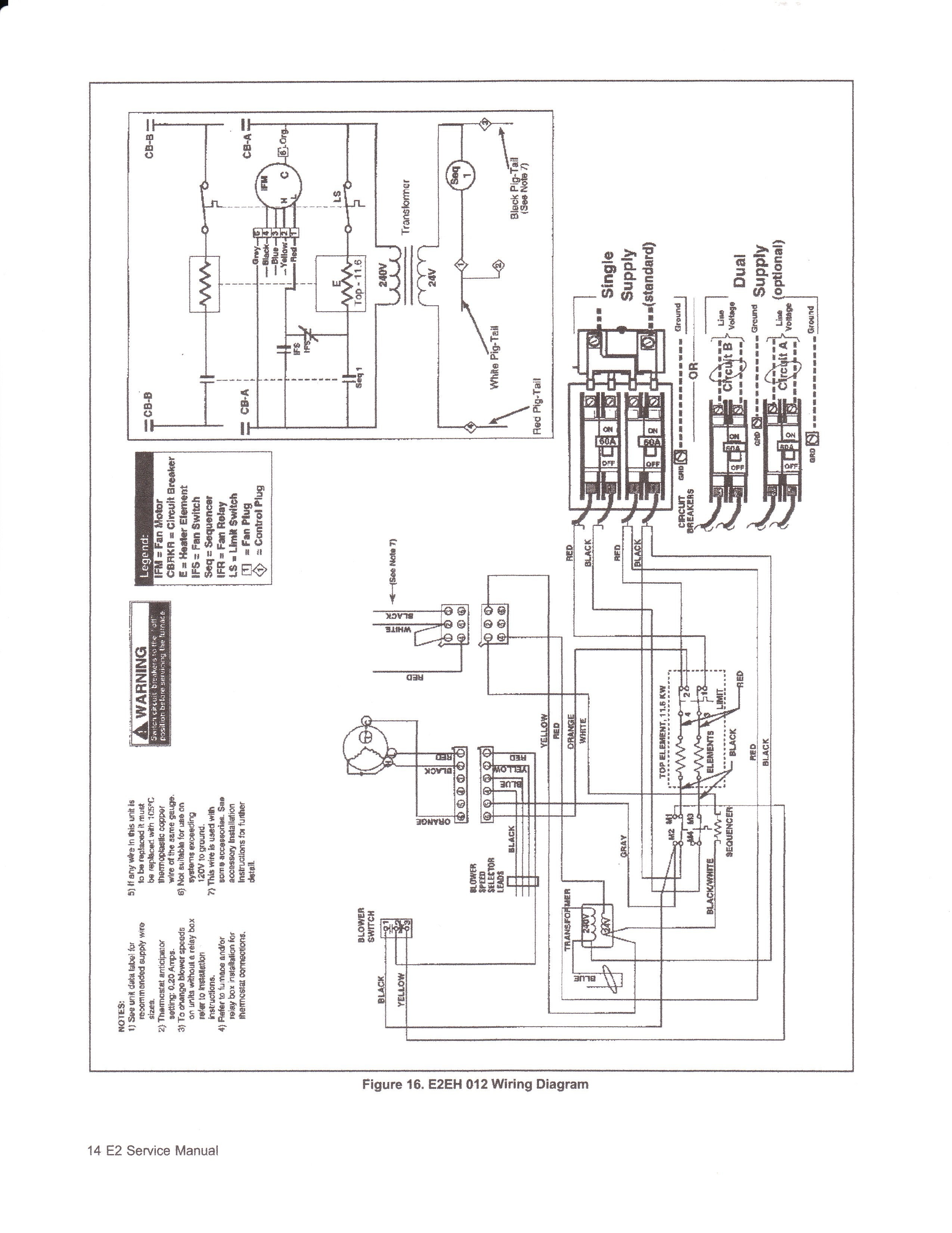 Wiring Diagram Intertherm E3eb 015h