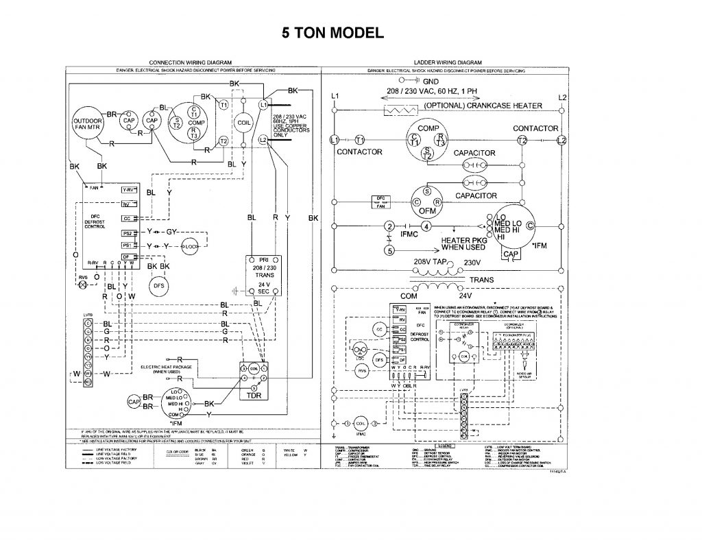 Collection Of Payne Package Unit Wiring Diagram Sample