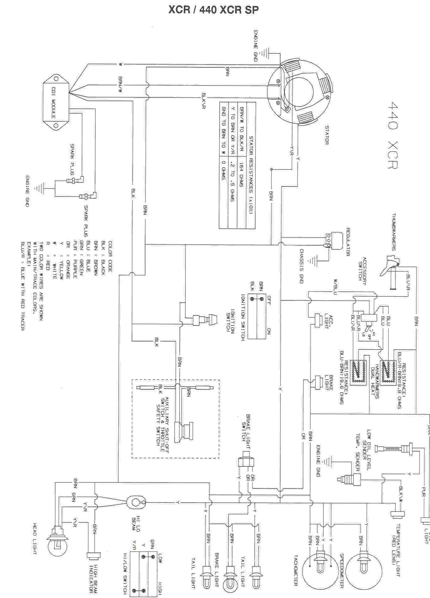 Gallery Of Polaris Snowmobile Wiring Diagram Sample