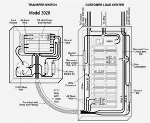 Gallery Of Residential Transfer Switch Wiring Diagram Sample