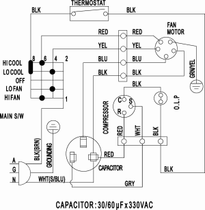 Split Air Conditioner Wiring Diagram Sample