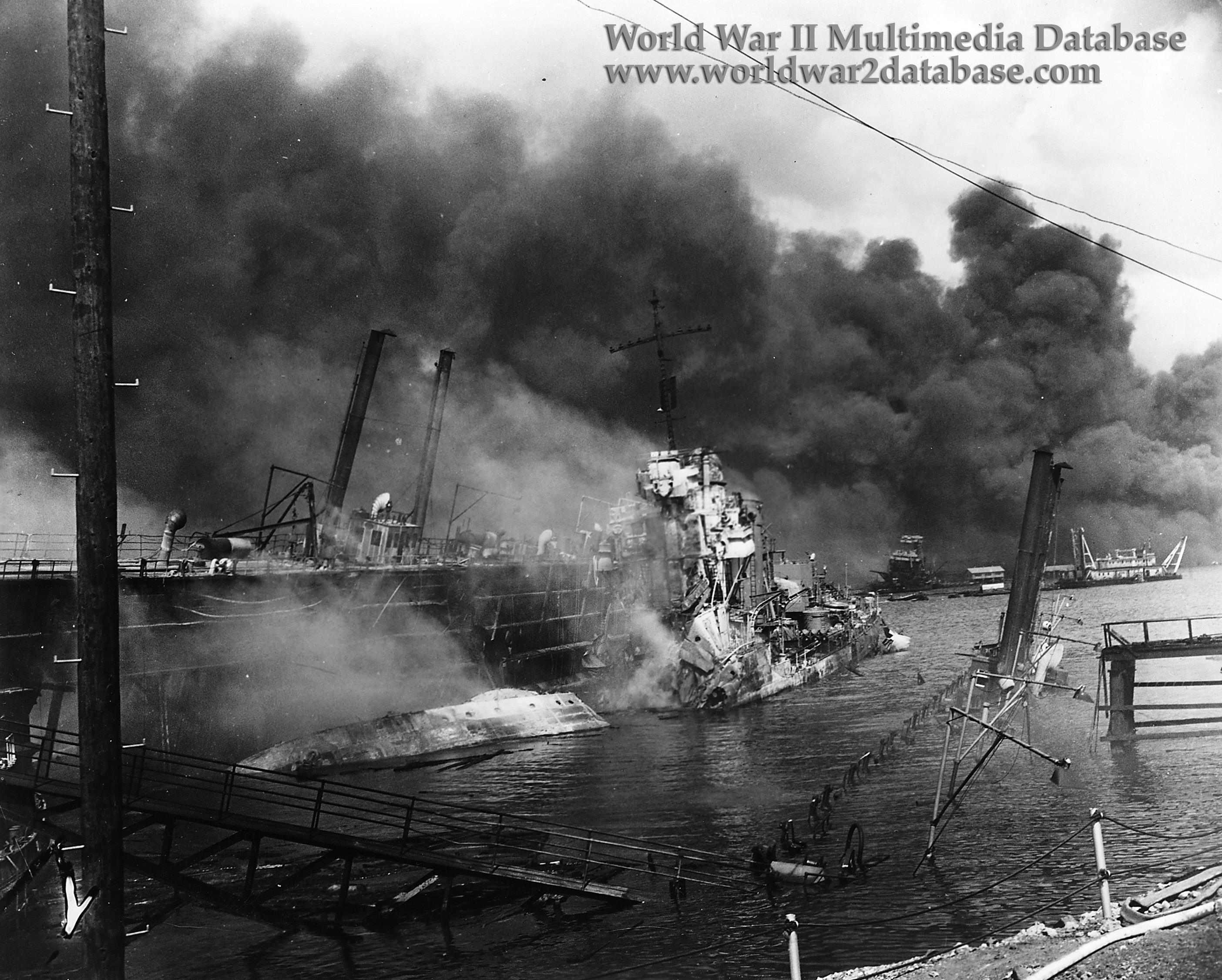 Uss Shaw Dd 373 Destroyed In Floating Drydock Yfd 2