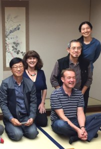 The late Lew Young with WWN committee in Japanese interior