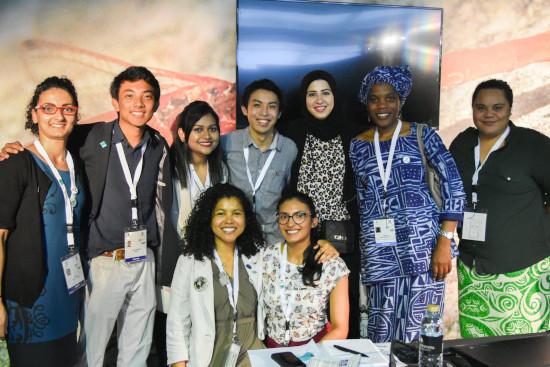 Happy youth delegates at Ramsar COP 13