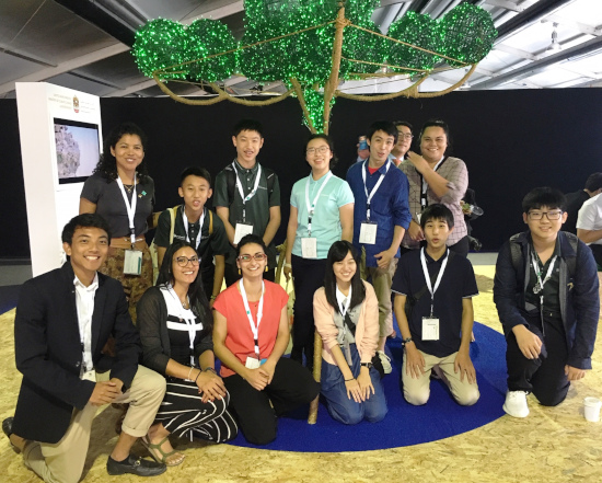 Young people at Ramsar COP13
