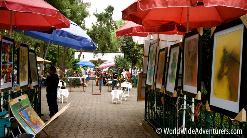 El Bazaar Sabado San Angel Mexico City