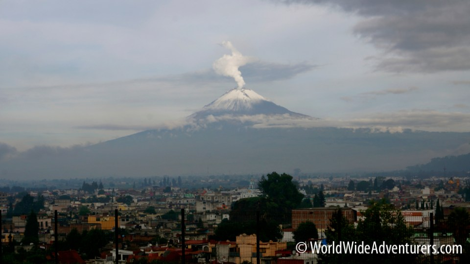 Popocatépetl Volcano, Cholula
