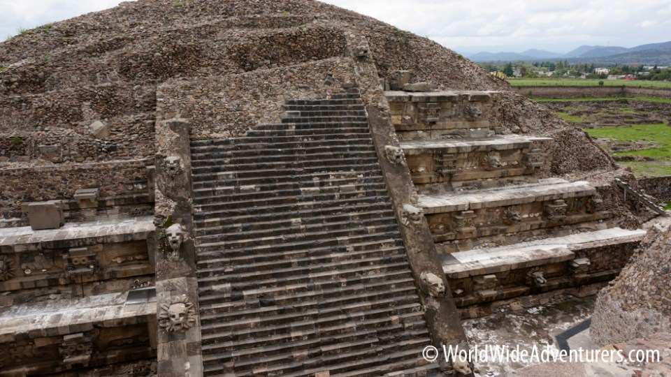 Mexico City Pyramids: Temple of Quetzalcoatl.