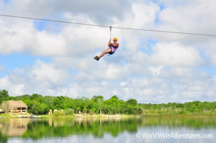 Ziplining in Cancun Mexico