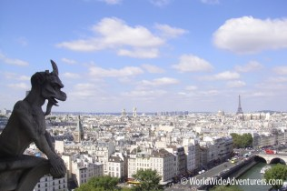 Notre Dame Gargoyles Paris France