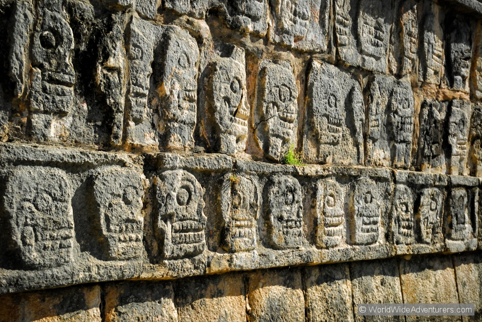 Chichen Itza Wall of Skulls