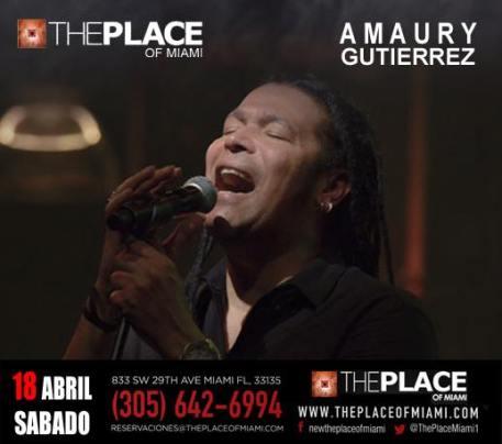 18 de abril - Amaury Gutiérrez en The Place de Miami, Florida