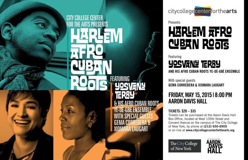 15 de mayo - Yosvany Terry y + en Aaron Davis Hall de Nueva York