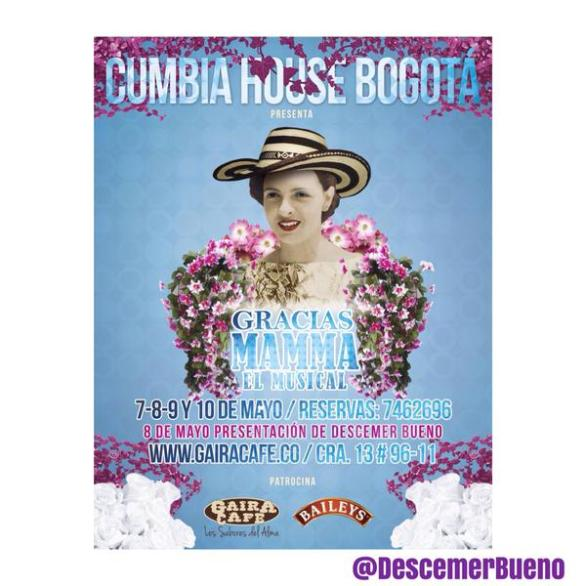 8 de mayo - Descemer Bueno en Gaira Café de Bogotá