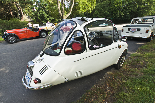 "The 1958 Heinkel...beautiful example of the ""bubble car"""