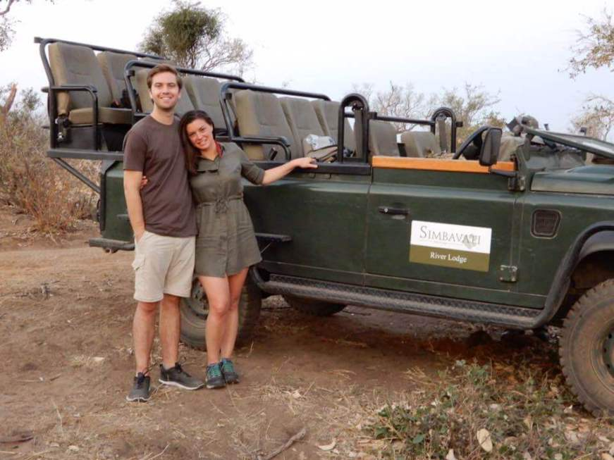 Chris and I beside our safari vehicle