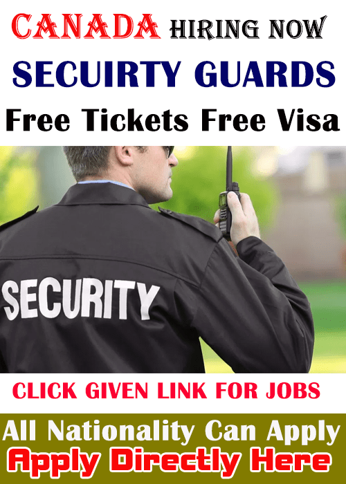 Airport Security Guard In Canada 2020