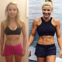 Female Weight Training Before and After