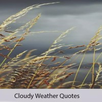 50+ Inspirational Cloudy Weather Quotes By Famous Authors