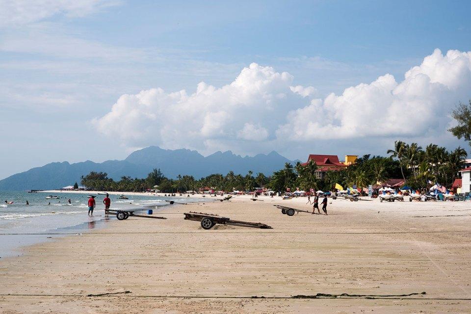 Plaża w Pantai Cenang na Langkawi