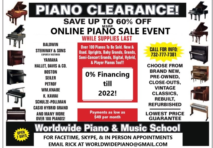 Huge Piano Sale in NJ.  save big online piano sale event.  Delivering to NYC, PA, CT and beyond. Baldwin, Steinway, Yamaha, Kawai, Casio, Seiler and more.