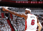 LeBron James cramp free help Heat win game two over Spurs