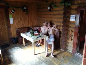 Chilling in the Banya with Dim:)