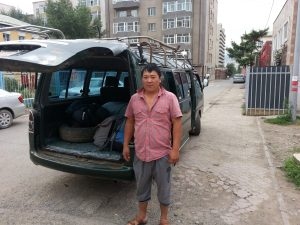 Eaggi our driver and our ride