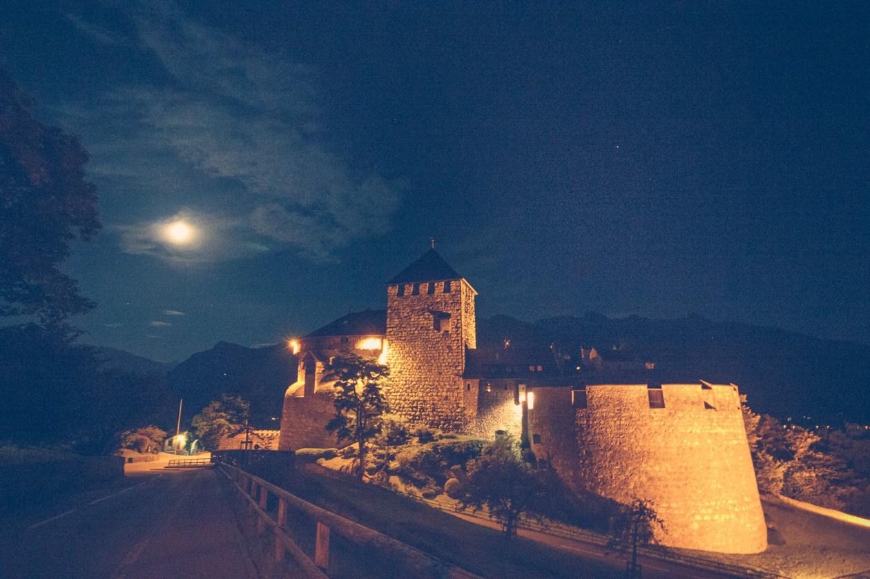 The castle in Vaduz, Liechtenstein where the Prince lives