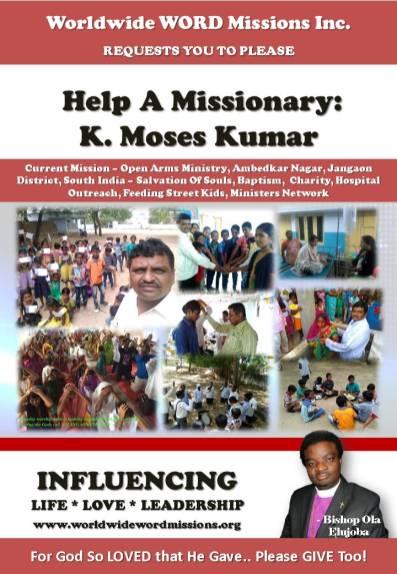 wwwmissions help flier KM kumar