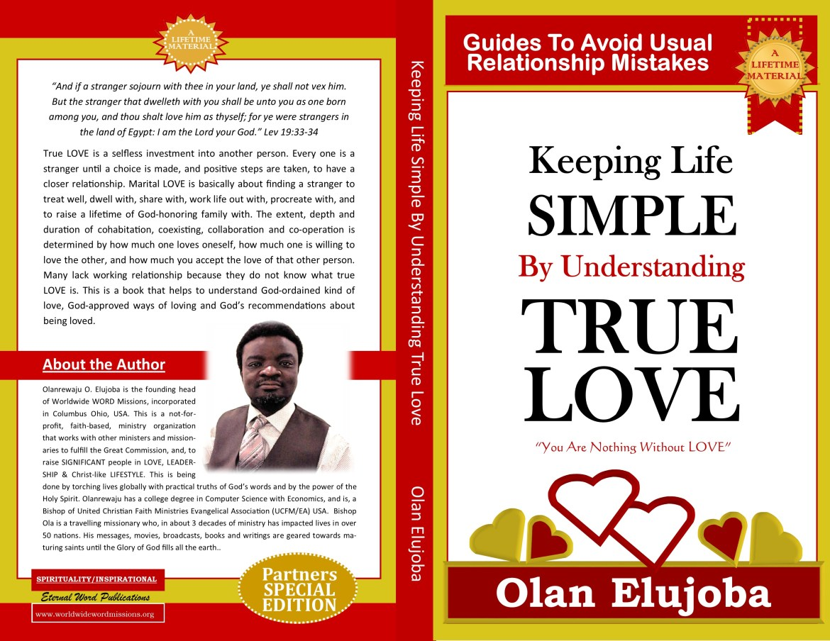 book cover TODAY - keeping life simple by understanding true love
