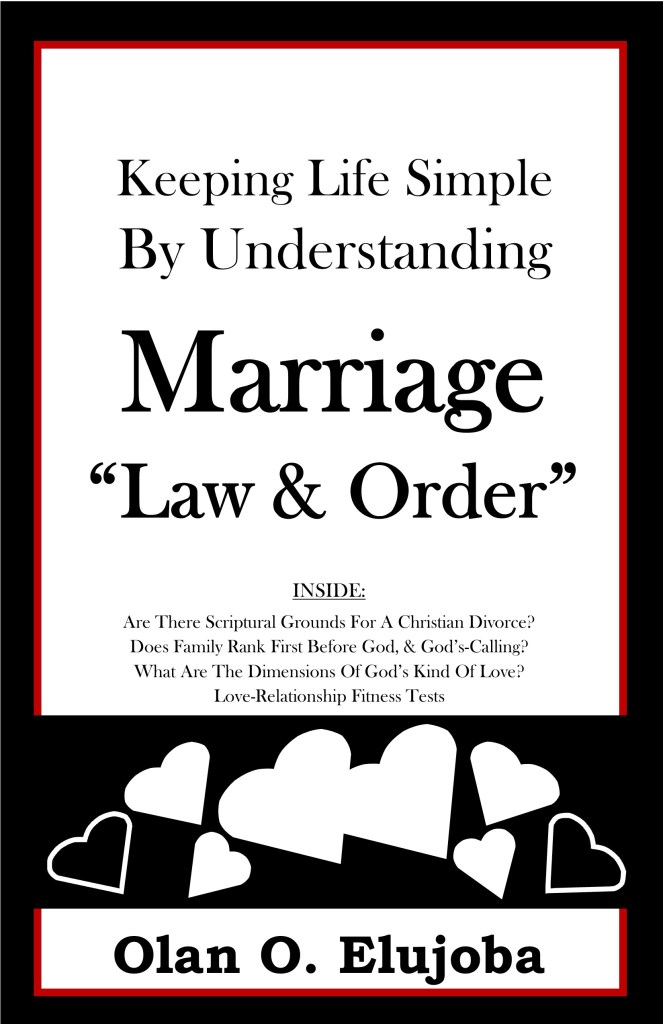 Keeping Life Simple By Understanding Marriage law & order 8.5x5.5