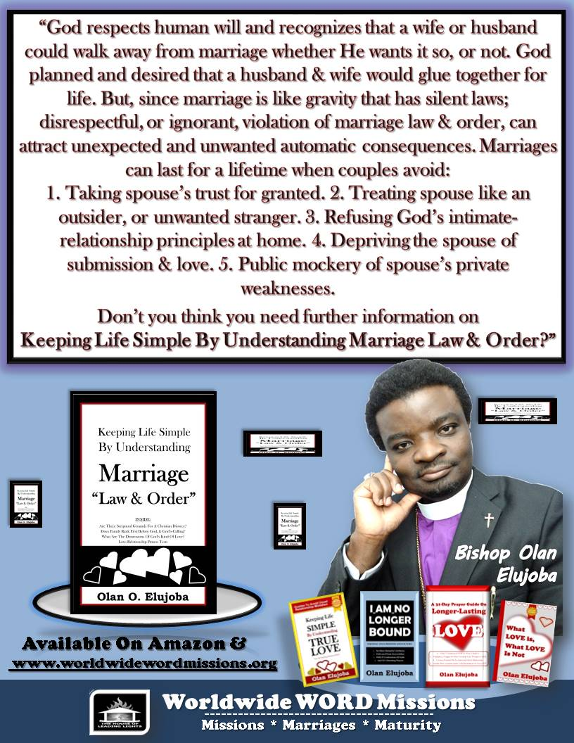Keeping Life Simple By Understanding Marriage law & order ad message portrait