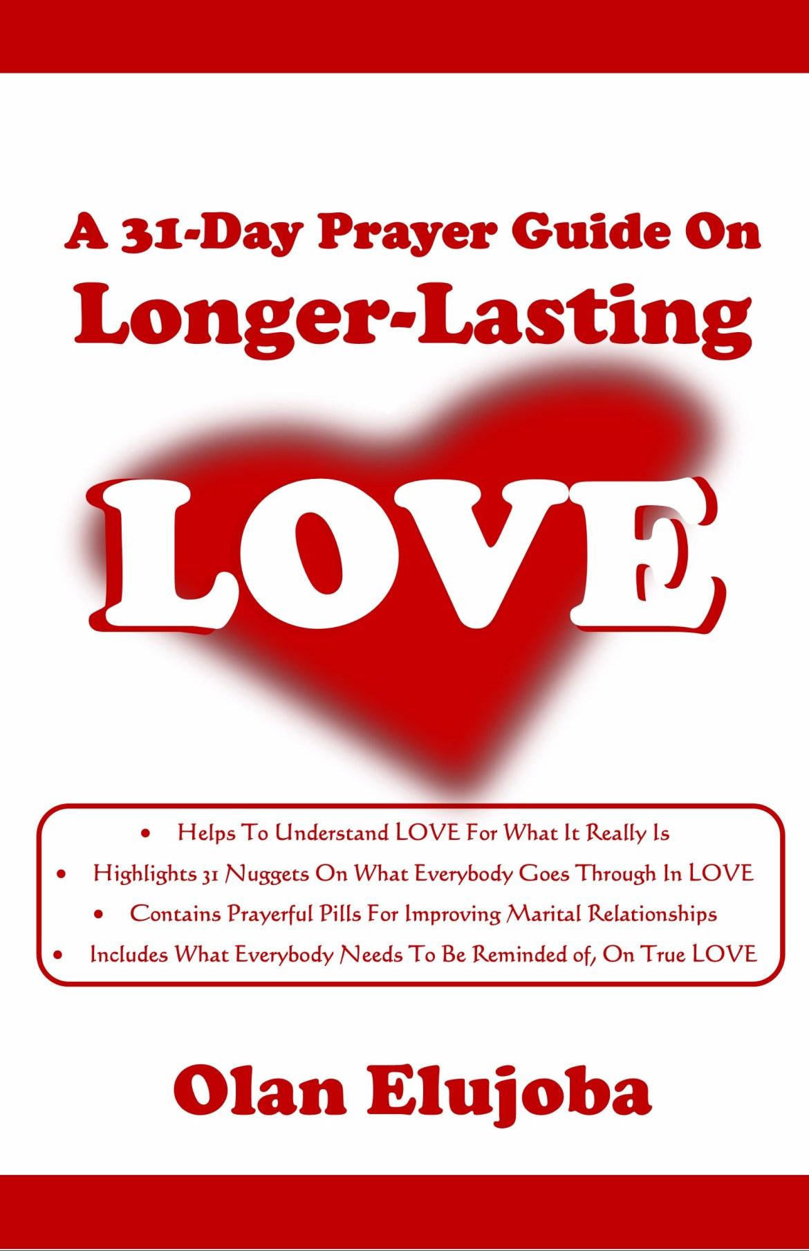 a 31 day prayer guide for longer lasting love cover