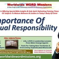Leadership Studies – Understanding Spiritual Responsibility – By Olan Elujoba
