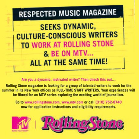 Rolling Stone Intern