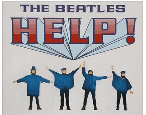 help beatles movie logo